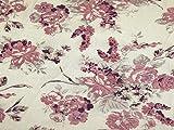 Floral Print Stretch Mesh Kleid Stoff pink &