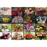 Puzzle 1000 Teile - Collage - Blumen