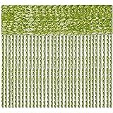 Bestlivings Fadenvorhang 90x240 Fadengardine Insektenschutz Raumteiler Auswahl: Grün - Olivgrün