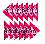 BOOLAVARD 100% Baumwolle, 1er 6er, oder 12er Pack Bandanas mit original Paisley Muster | Farbe nach Wahl Headwear / Haar Schal Ansatz Handgelenk Verpackungs Band Kopf Bindung (12er Dunkelrosa)