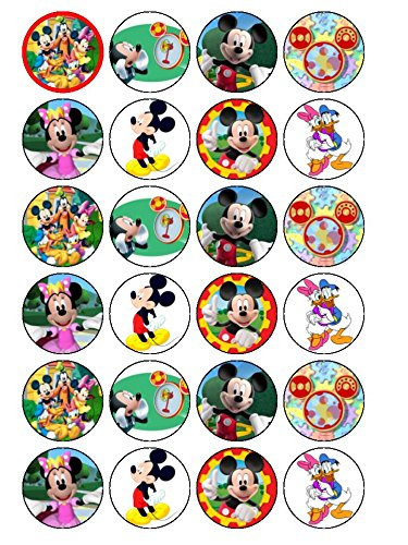 24x Mickey Mouse Clubhouse Nr. 2Essbarer Cupcake-Dekor, Topper