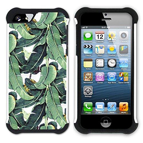 Graphic4You Hawaiisch Hawaii Postkarte Hart + Weiche Kratzfeste Hülle Case Schale Tasche Schutzhülle für Apple iPhone SE / 5 / 5S Design #9