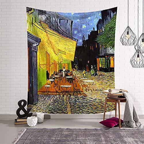 Tapestry Wall Hanging,Abstrakte Snack Street Böhmisches Indischen Hippie Psychedelic Modern/Multi,Funktion An Der Wand/3,D,Druck Groß Home Decoration/Hängende Tuch/Für Wohnzimmer/Badetuch,150Cm - Street Wall Tapestry