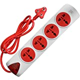 MX Surge Protector Spike Guard with 4 Universal Sockets Master Switch   5 Foot / 1.5 Meters Power Cable 5 Amperes
