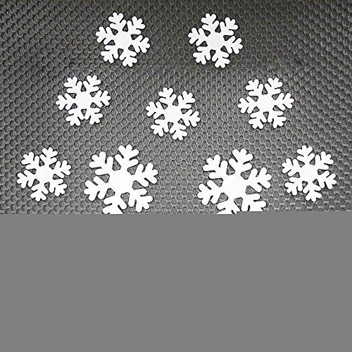 arer 3D Selbstklebende Kunststoff Schneeflocke Aufkleber für KüHlschrank Wand Hintergrund Dekor (Weiß) ()