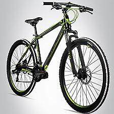 Ein 29 Zoll Mountainbike für ein bestmögliches FahrgefühlDas leichte Mountainbike Bergsteiger Canberra überzeugt durch seinen Hardtrail Stahlrahmen und die robuste Federgabel, wiegt aber nicht mehr als 17,5 kg. Somit ist das Bike bestens geeignet für...