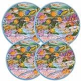 Reston-Lloyd-Electric-Stove-Burner-Covers,-Set-of-4,-Fish