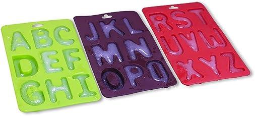 DOGZI Kuchenform Silikon Backformen Set, Küche Backen Back- & Tortenbodenformen, 3 Teile/Satz Von Buchstaben Silikon Handgemachte Kuchen Dekoration DIY Form