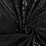 Fabulous Fabrics Paillettenstoff Stretchtüll Edel schwarz — Meterware ab 0,5m — zum Nähen von Abend- und Partymode, Accessoires und Röcken