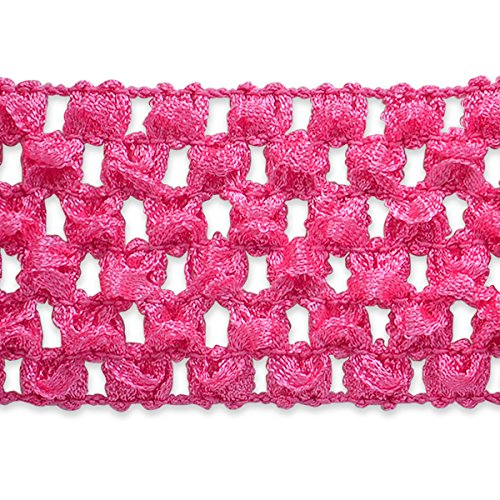Expo International 1-3/4-Inch Crochet Stretch Trim Embellishment, 20-Yard, Hot Pink by Expo International Inc. -