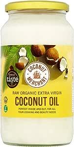 1L Bio-Kokosöl Extra Virgin, roh, kaltgepresst, unraffiniert | Coconut Merchant | Ethisch bezogen, vegan, ketogen und 100% natürlich | Für Haare, Haut & Zum Kochen, 1L