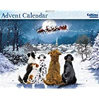 Advent Calendar (WDM0031) - Night Before Christmas - Dogs Watching Santa - Glitter Varnished