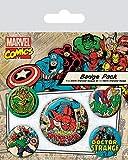 AMBROSIANA Pyramid International Marvel Retro Spider-Man Badge, Multicolore, 10x 12.5x 1.3cm