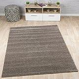 Kurzflor-Designer Uni Teppich Extra Weich fürs Wohnzimmer, Schlafzimmer, Esszimmer Oder Kinderzimmer Gala Mandel Braun 160x230 cm