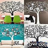 Wandaro Wandtattoo Baum mit Ästen und Blättern I Silbergrau (BxH) 179 x 150 cm I Wohnzimmer Schlafzimmer Wandaufkleber Wandsticker Aufkleber Sticker W3277