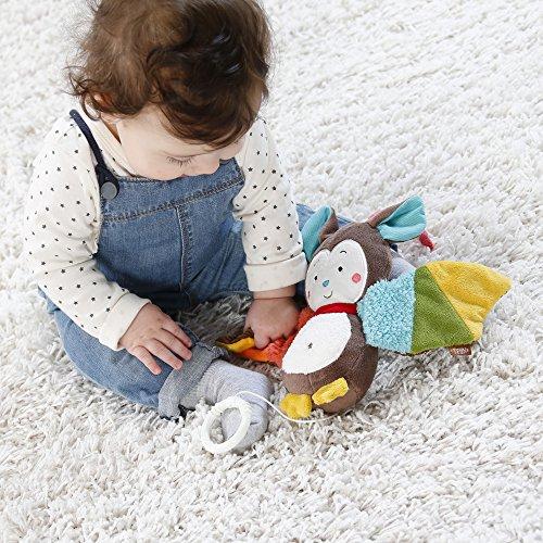 Fehn 067613 Spieluhr Fledermaus – Aufzieh-Spieluhr mit herausnehmbarem Spielwerk zum Aufhängen, Rascheln und Greifen, für Babys und Kleinkinder ab 0+ Monaten - 3