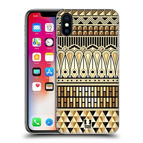 Head Case Designs Folklore Russo Stampe Etniche Multiculturali Cover Retro Rigida per Apple iPhone X Art Deco Egiziana