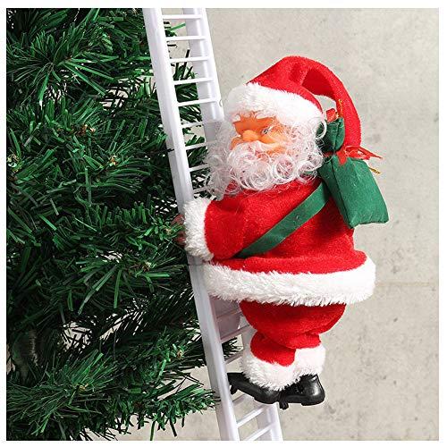 Delidraw 1 Pz Scaletta da Arrampicata elettrica Babbo Natale Figurine di Natale Ornamento Decorazione Regali