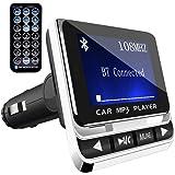 Bluetooth FM Transmitter,ToHayie Wireless Auto Radio Adapter,Freisprecheinrichtung Car Kit mit USB Auto-Ladegeräte,3.5 mm AUX und MicroSDHC-Karten-Slot für iPhone X,8,Samsung S8,Car MP3 Player