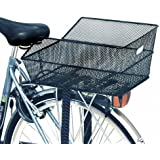 Basil Cento - Cesto para rueda trasera de bicicleta negro