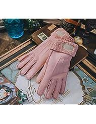 Longless Señoras guantes de invierno más cálido engrosamiento de terciopelo guantes digitado estudiante de equitación de exterior