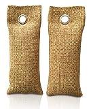 Ambientador de bambú con carbón activo | Filtro de aire para el hogar, coche, cocina, zapatos, refrigerador, baño... | Libre de emisiones | 100% biodegradable