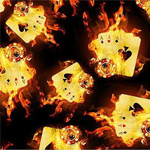 Preisvergleich Produktbild WASSERTRANSFERDRUCK HYDROGRAPHIC FOLIE KARTEN IN FLAMME CARDS in FIRE LAGERWARE 100x50 cm