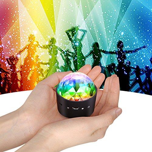 Mini Discokugel Licht,YIKANWEN Stimme Steuerung Disco Party Lichter Bühnenbeleuchtung Effektlicht DJ Stroboskop Kugel mit Spiegeln &...
