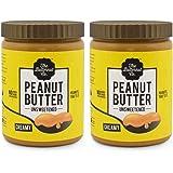 The Butternut Co. Peanut Butter Unsweetened Creamy, 1 Kg (Pack of 2)