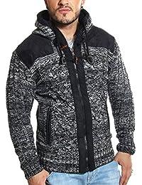 Carisma - Gilet noir en laine tressée