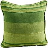 Homescapes Kissenhülle Morocco in Streifen-Design Kissenbezug 45 x 45 cm aus 100% reiner Baumwolle mit Reißverschluss in grün