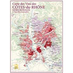 Carte des vins des Côtes du Rhone méridionales