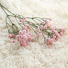 Flores Artificiales 5Pcs Mantianxing Simulación De Flores Arreglo Floral Habitación Boda Decoración De Oficina,Flor Rosa