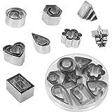 Juego de cortadores de galletas, 24 piezas de cortadores de galletas de acero inoxidable fondant DIY para hornear cortadores