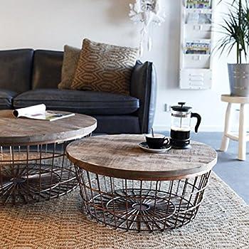 Couchtisch Kaffeetisch Beistelltisch New Glory Rund O 70 Cm Holz