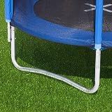 Ultrasport Kinder Gartentrampolin Uni-Jump 183 cm  inkl. Sicherheitsnetz – Blau - 4