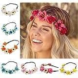 Fascia per capelli a forma di fiore, corona di rosa, hawaiana Luau fiore di mare ghirlanda 8PCS