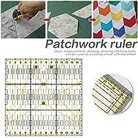 Quilters de acrílico bricolaje Regla Patchwork Square regla para coser Craft Tool - 15 x 15