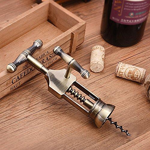 (JIALE3536 Weinöffner,Flaschenöffner Wein,Korkenzieher Trockene Rote Dosen Wein Flaschenöffner,)