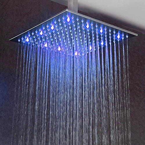 Preisvergleich Produktbild BONADE® LED Unterputz Regendusche Regenduschköpfe 50*50cm Dusch-Set Chrom Edelstahl
