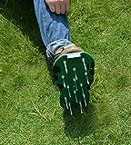 Kitclan 4 Riemen Rasenlüfter Schuhe, Rasenbelüfter Sandalen 5 cm lange Bodennägeln für Haus und Garten (1 Paar ) grün - 8