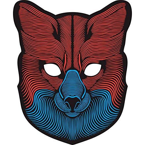 huichang Halloween Sound Reaktive LED Maske, Maskerade Maske Halloween Kostüme Venezianischen Partei Maske ()