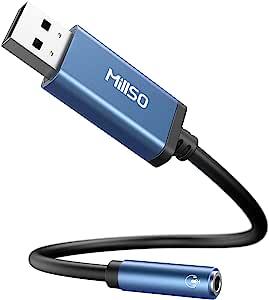 Millso Usb Headset Adapter Usb Auf 3 5 Mm Trrs Buchse Computer Zubehör