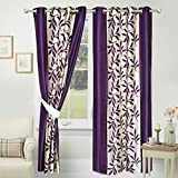 #3: Impeccable Home Polyester Floral 7 feet Door Curtain,Set of 1