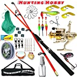 #3: Hunting Hobby Fishing Unbreakable Spinning Rod,Reel,Accessories Complete Kit