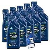 10x 1 L Liter ARAL SuperTronic Longlife III 3 5W-30 Motoröl inkl. Ölwechselanhänger