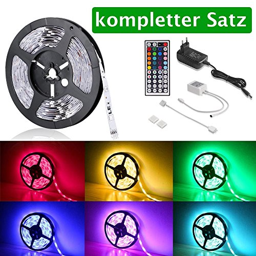 LE Tira LED Multicolor Accesorios incluidos 5m 150 LED 5050 RGB 24W no impermeable