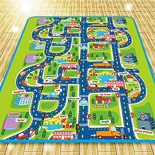 YALUOYY Kinderteppich Entwicklungsmatte Eva Foam Babyspielmatte Spielzeug für Kinder Matte Playmat Rätsel Teppiche im Kinderzimmer Play 4 Dropshipping (Rätsel Map)