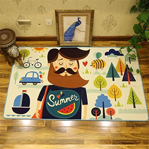 MEHE@ Mode Stilvoll Persönlichkeit kreativ Cartoon Niedlichen Tier Rechteckigen Kinder Teppich, Wohnzimmer Schlafzimmer Kinder Krabbeln Matte / Spiel Pad Teppiche ( Farbe : Pattern 4 , größe : 100X160CM )