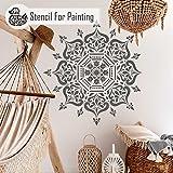 BUKHARA Mandala Wand Möbel Fußboden Schablone für Malerei - 25cm